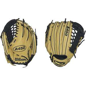 Wilson A450 12 Baseball Glove, Left Handed Throw Team