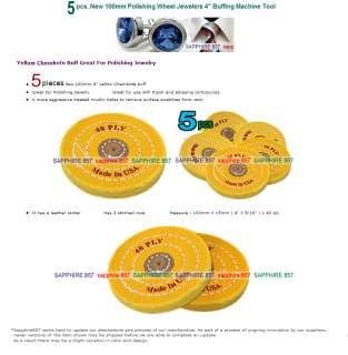 5pcs 100mm Polishing Wheel Jewelers Buffing Machine 704