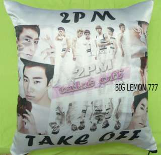 2PM Photo Cushion Pillow Cover Pillowcase Satin Q1
