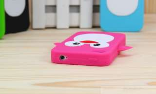 Black Penguin Silicone Soft Case Cover For iPhone 4 4G