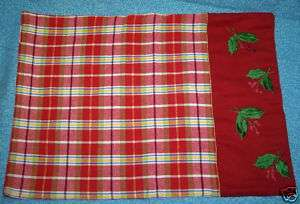 Red Cotton Christmas Holiday TABLE RUNNER + PLACEMATS