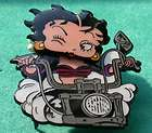 Betty Boop Winking Plastic Pin Button Mint on Card