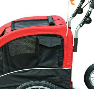 Bike Bicycle Trailer Dog Stroller Cat Carrier W/Suspension Red
