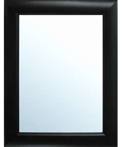 Grooved Black Framed Wall Mirror