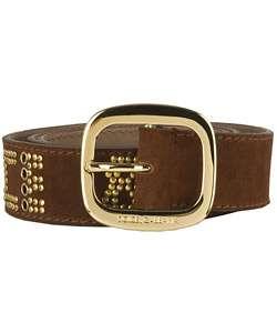 Dolce & Gabbana Brown Suede Embellished Belt