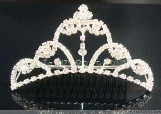 Lots Fashion 6pcs Mixed Crystal Rhinestone Crowns