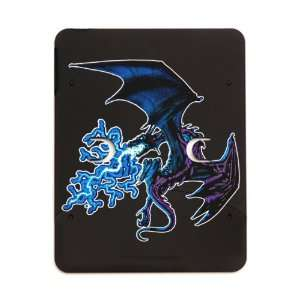iPad 5 in 1 Case Matte Black Blue Dragon with Lightning