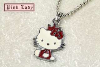W183 Red Style Crown Kitty Pendant Charm Necklace