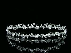 Bridal Princess Rhinestones Crystal Flower Wedding Headband Tiara 5459