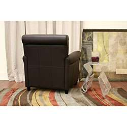 Espresso Brown Full Bi cast Leather Club Chair