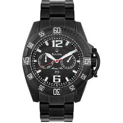 Bulova Marine Star Mens Black PVD Watch  Overstock