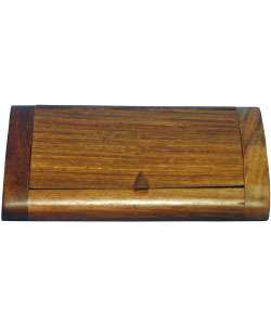 Burl Wood Business Card Holder