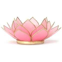 Capiz Shell Tourmaline Lotus Tea Light (Philippines)