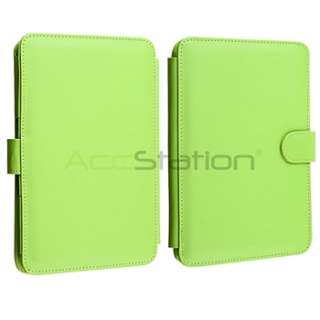 Green Leather Carry Skin Case Cover PouchFor  Kindle 3 3G