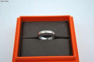 Auth HERMES Au750 K18 White Gold WG Ring + Case Sz 51 5