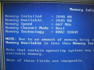 Dell Precision M4300 Core 2 Duo Laptop 2.20GHz 2GB Ram