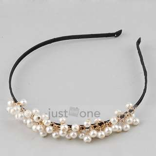 Sweet Elegant Women Ladies Girls Chic Hair Decoration Faux Pearl Beads