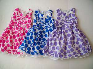 CHILDRENS PLACE PINK & WHITE OR BLUE & WHITE DRESS NWT