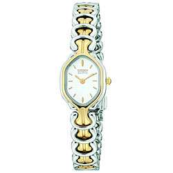 Citizen Womens Eco Drive Silhouette Two tone Crystal Watch