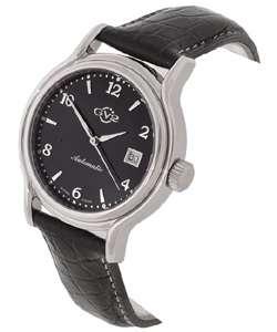 Gevril GV2 Classic Black Dial Black Strap Watch