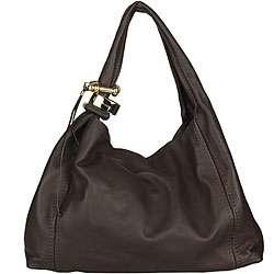 Jimmy Choo Saba Brown Leather Handbag