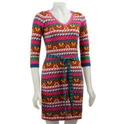 Betsey Johnson Peru Fairisle Sweater Dress
