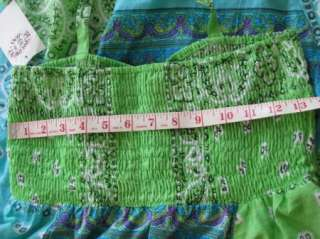 Peppermint Bay halter bandana paisley blue green cruise womens dress