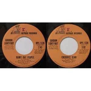 Rainy Day People/Cherokee Bend Gordon Lightfoot Music