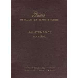 com Bristol Hercules 630 Aircraft Engine Maintenance Manual Bristol