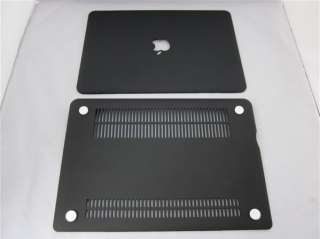 Black Rubberized hard case cover for macbook pro 13/13.3inch