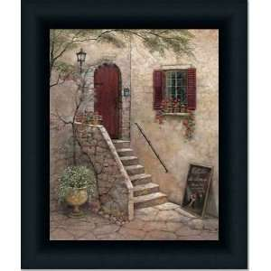 Dance Studio French Country Street Scene Print Framed