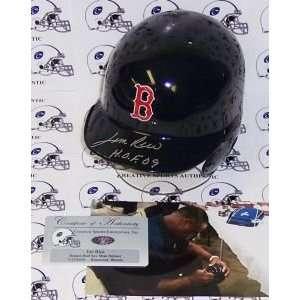 Boston Red Sox Jim Rice Hand Signed Mini Helmet Sports