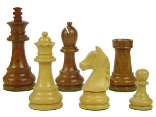 Tournament Chess Set Pieces Wooden 3.75   Dbl. Queens