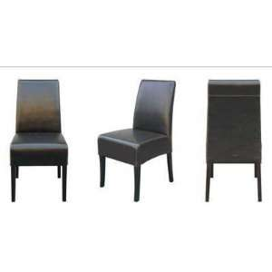 Dark Brown Full Leather Restaurant Chair