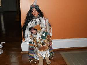 GEPPEDDO COLLECTORS SERIES KAVA & SHINAVA indian Porcelain doll RARE