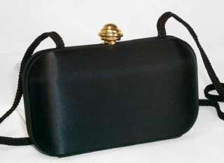 GOLD BLACK SATIN Little Dress PURSE HANDBAG CLUTCH BAG