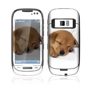Nokia C7 Skin Decal Sticker   Animal Sleeping Puppy