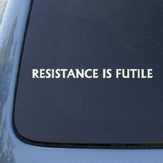 RESISTANCE IS FUTILE Borg Star Trek Decal Sticker #1636  Vinyl Color