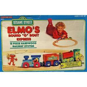 Elmos Round O Bout Express Wooden Train Set Toys & Games