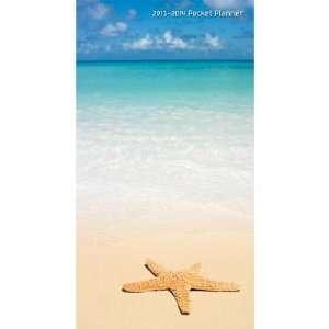 (4x7) Beaches 2013 14 Pocket Planner Calendar: Home & Kitchen