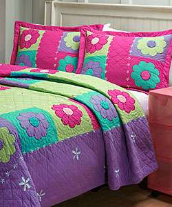 Hand stitched Groovy Girl Quilt Set