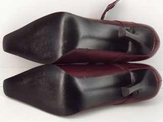 Womens shoes dark red leather dress BCBG Paris 9 M mary jane heels