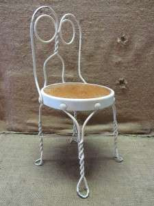 Childs Ice Cream Chair  Antique Old Stool Parlor Soda Fountain 7043