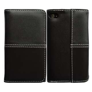 New Card Slot Wallet LEATHER CASE FLIP COVER SKIN FOR Apple IPHONE 4