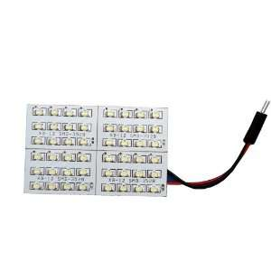 10X Light Panel 48 SMD LED Cool Pure white + Interior Bulb