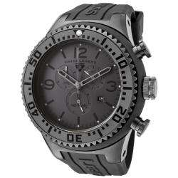 Swiss Legend Mens Neptune Grey Dial Grey Rubber Chronograph Watch