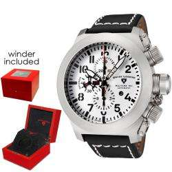 Swiss Legend Mens Militare No1 Black Leather Chronograph Watch