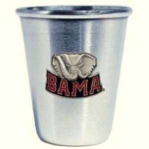 Alabama Crimson Tide 1.5 ounce Stainless Steel 1Shot with Pewter Logo