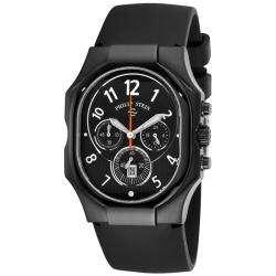 Philip Stein Mens Classic Chrono Black Rubber Strap Watch