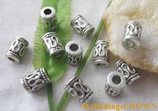 60pcs Tibetan Silver barrel spacer beads 8x6mm FC1784